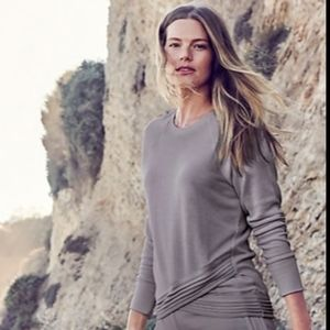 Athleta  softest serenity Criss-Cross sweatshirt
